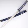 Wakizashi Azul e prata com bainha - 2