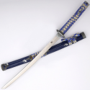 Wakizashi azul y plata - 2
