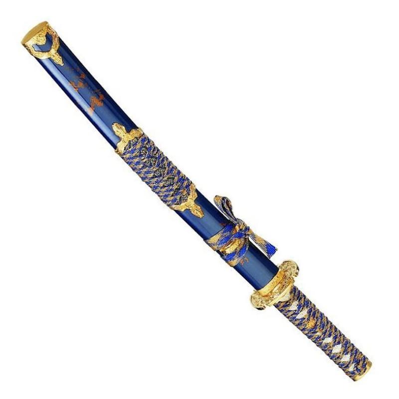 Wakizashi azul y oro - 2