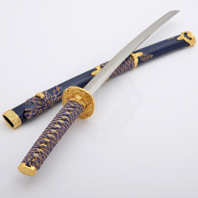 Wakizashi Blue and Gold - 3