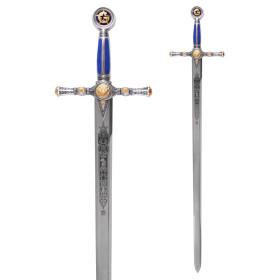 Espada Masónica Plata - Esmalte Azul - 7