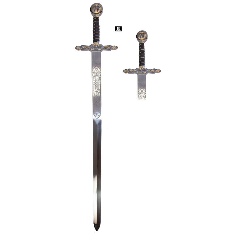 Espada Maçónica Ouro sem bainha - 9