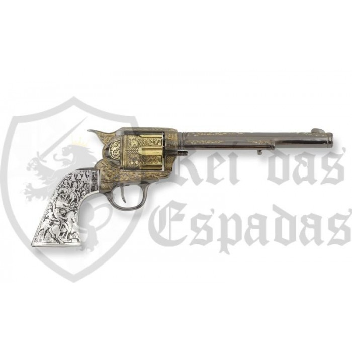 Colt 45 Peacemaker 31.5 cm revolver with engraved steel handle - 4