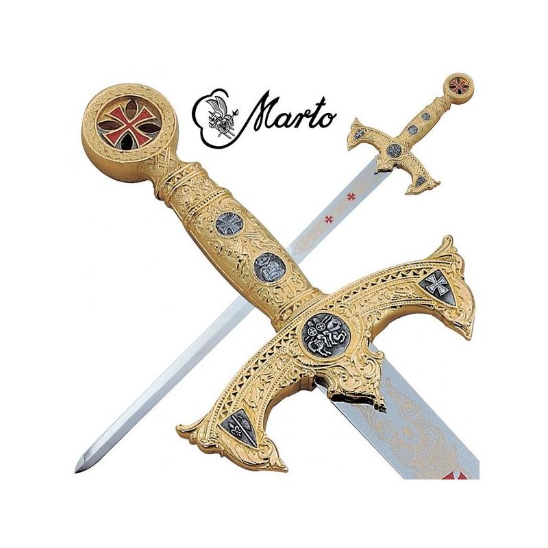 Espada dos Templários Ouro sem bainha - 5