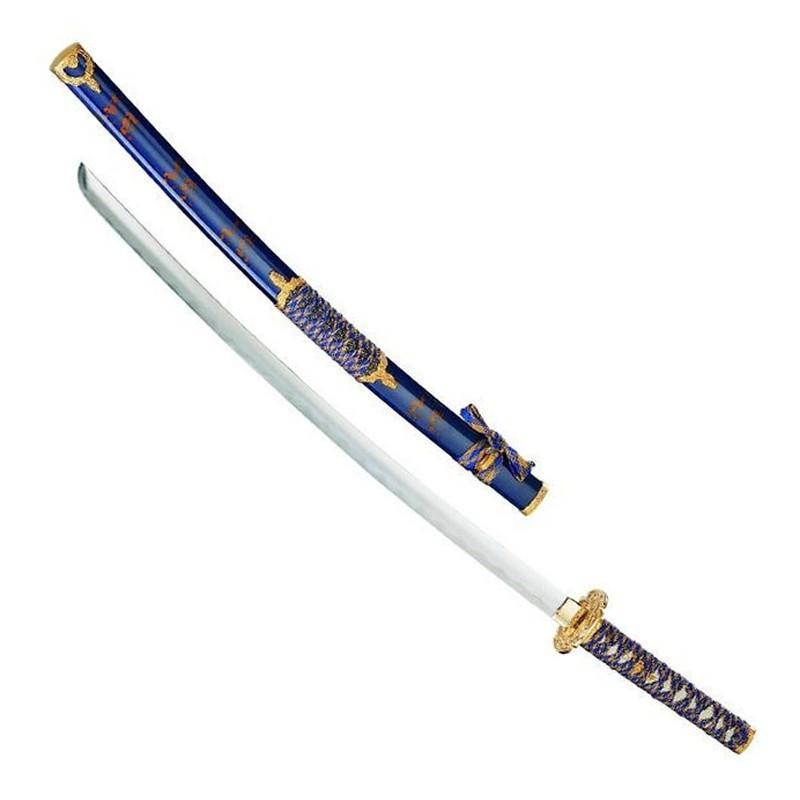 Gold-blue katana - 2
