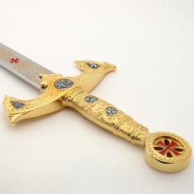 Espada dos Templários Ouro sem bainha - 2