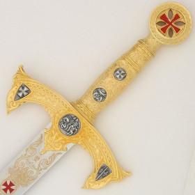 Espada dos Templários Ouro sem bainha - 3