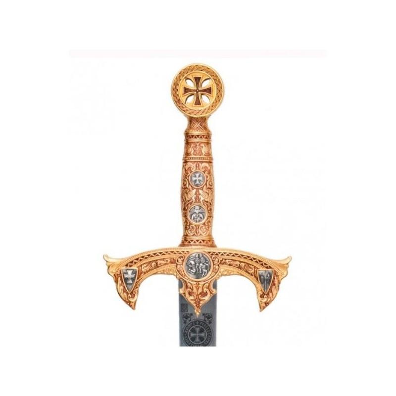 Espada templaria ouro sem bainha - 1
