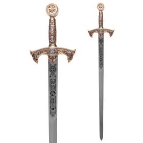 Espada templaria ouro sem bainha - 3