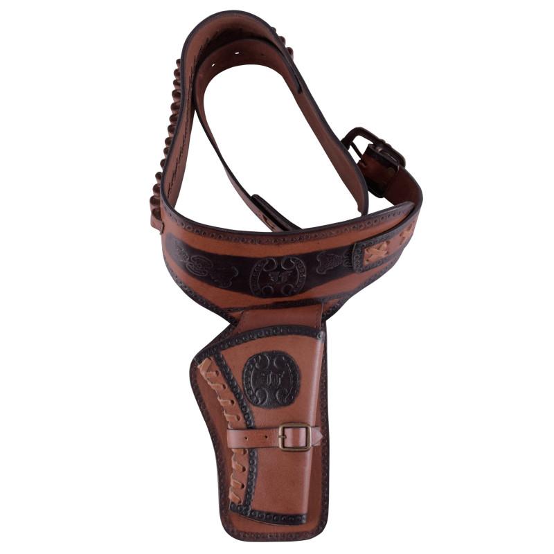 Leather revolver holster - 1