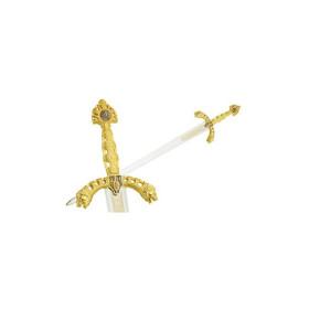 Espada durendal de Roldán em ouro sem bainha - 4