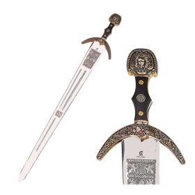 Espada Marco Polo em dourado sem bainha - 6