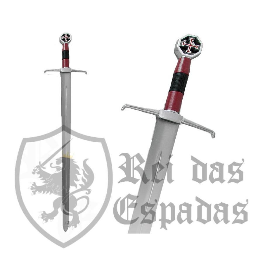 Espada de Jerusalém, com lâmina de aço carbono sem bainha - 3