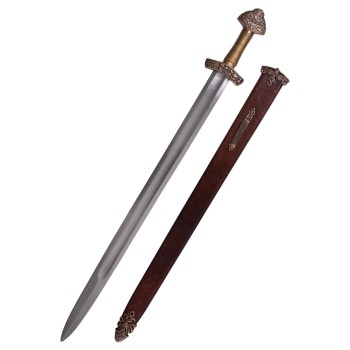 Viking Dybäck Sword with Sheath, Tempered Carbon Steel Blade - 2