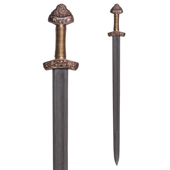 Viking Sword Dybäck with Sheath, Steel Damascus - 1