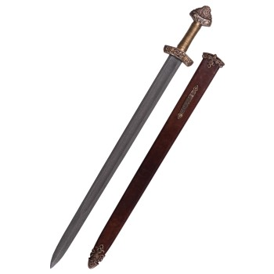Viking Sword Dybäck with Sheath, Steel Damascus - 2