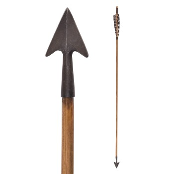 Medieval Arrow with Little Hunting Bodkin, 30 in. - 1
