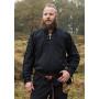Camisa medieval Corvin con encaje, negro - 5