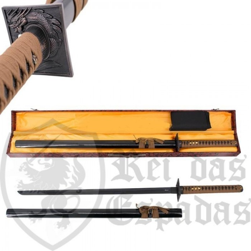 Kit Katana Functional Blade AISI 1045 with box - 5