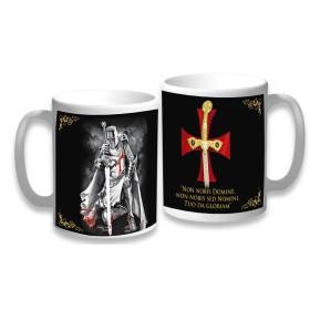Knight mug and Ceramic Templar Cross - 1