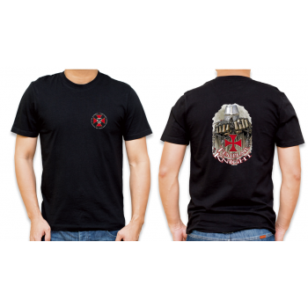 Black T-Shirt with templar cross,model4 - 1