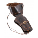 Holster in brown leather for revolver - 1