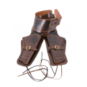 Leather holster for 2 revolvers - 1