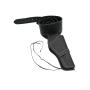 Black leather holster for short revolver - 1