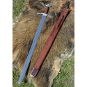 Tall medieval knight sword with sheath - 1