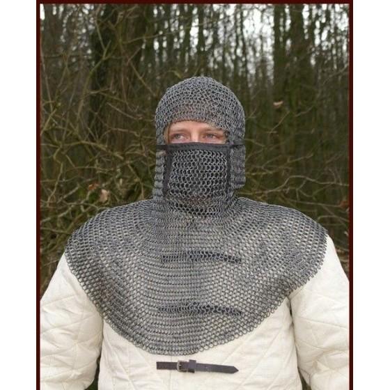 CoIfa de malha preta de Verdugo com protector