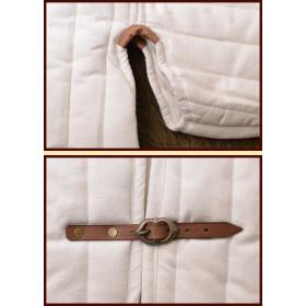 Wide stitch with buckles, dark white - 3