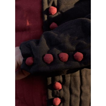 Perponto with buttons, Jupon, red and black - 3
