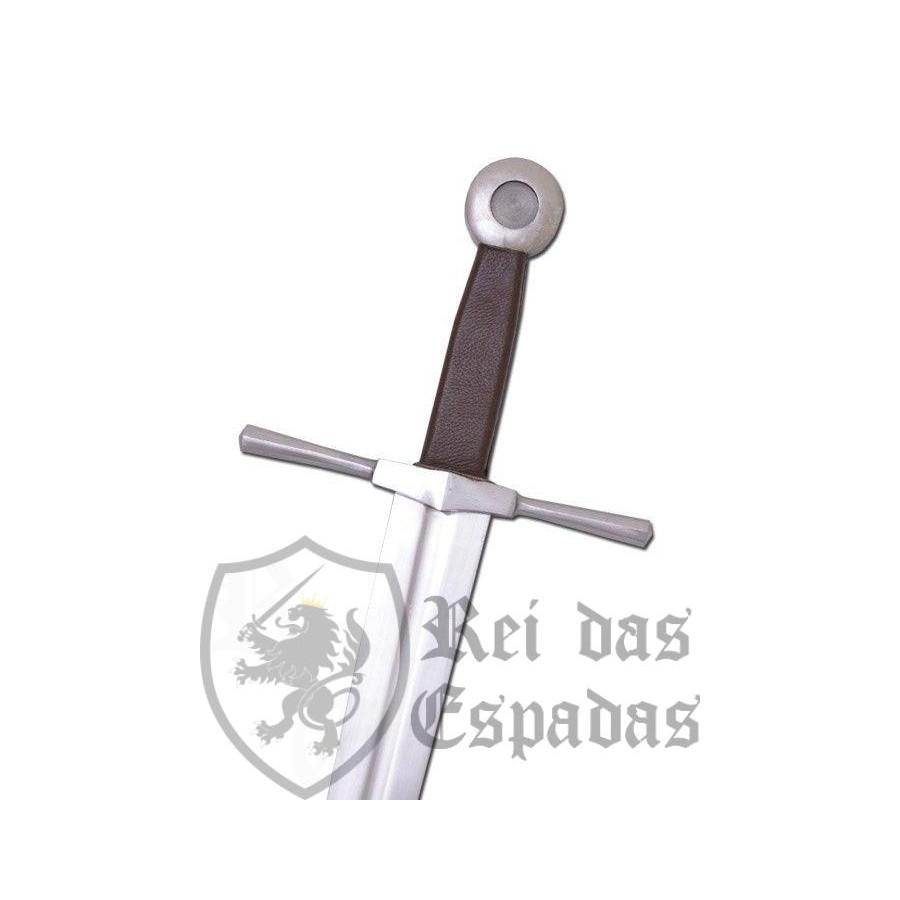Espada de uma mão, com alça plana e redonda, para treinamento - 1
