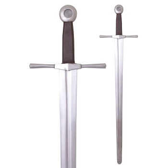 Espada de uma mão, com alça plana e redonda, para treinamento - 2