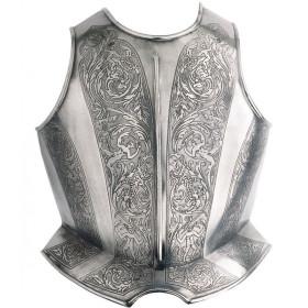 Peitoral gravado para armadura