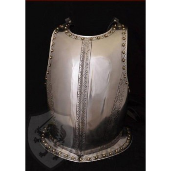 Breastplate in steel with recording