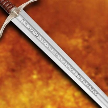 Functional Crossed Accolade Sword with Sheath - 2