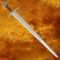 Functional Crossed Accolade Sword with Sheath - 3