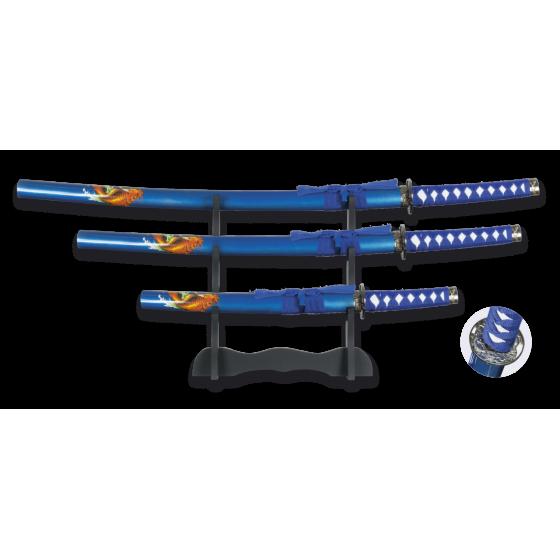 Blue Dragon Set Composé par Katana, Wakizashi et les deux avec le soutien - 1