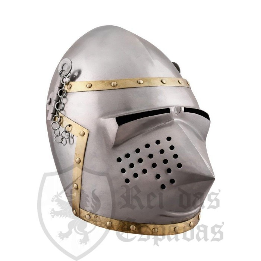 Bacinete churburg style , year 1390 - 1