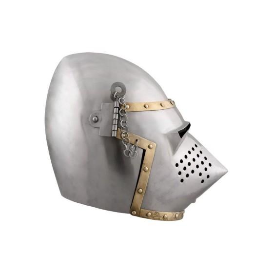 Bacinete churburg style , year 1390 - 2