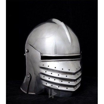 Medieval celada with visor, year 1490, functional - 3