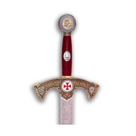 Espada Templário dourada