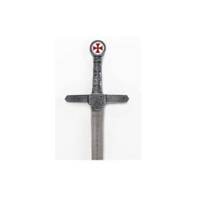 Espada Templária com cruz sem bainha - 1