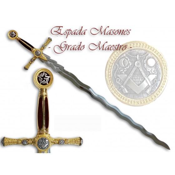 Flaming Masonic Sword - Grand Master - 1
