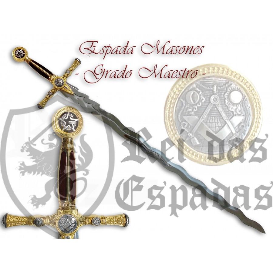 Espada Maçónica flamejante - Grão Mestre - 1