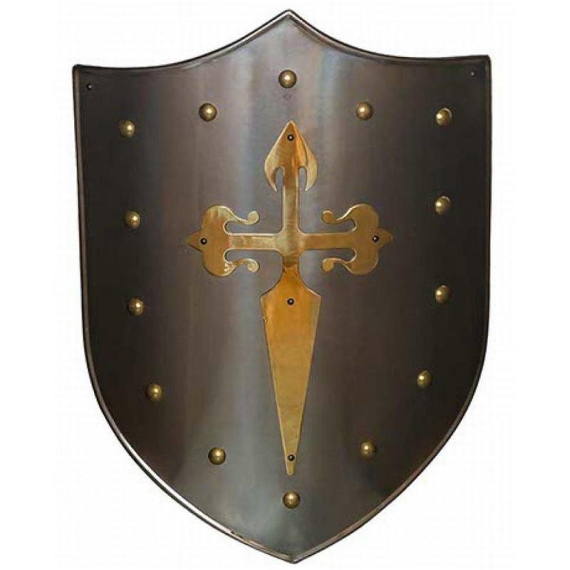 Escudo Medieval Cruz Santiago