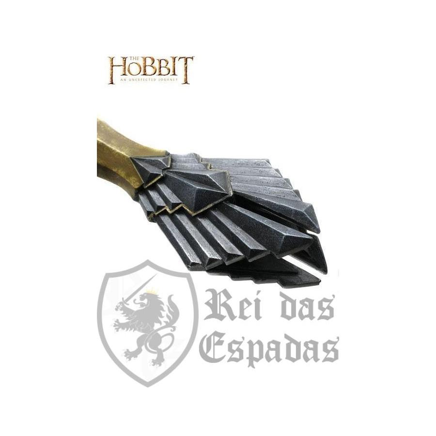 c85497b91 Espada de Thorin escudo de roble El Hobbit oficialLa presentación d...