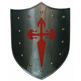 Escudo Medieval Cruz vermelha Santiago - 2