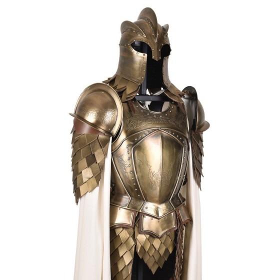 Armadura Kingsguard, conjunto completo com suporte